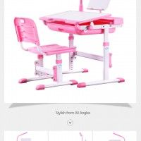 Accessories and Furniture. Pink Kids Study Desks With Iron Kids Study Desk. Funny Kids Study Desks For Comfortable Study Positions