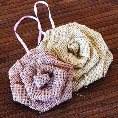 Rolled Burlap Flowers by Beau-coup