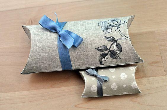 Free printable pillow gift boxes