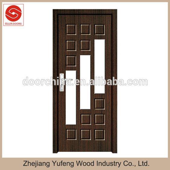 Grabado puerta de madera con vidrio en puertas de puertas for Modelos de puertas de madera con vidrio
