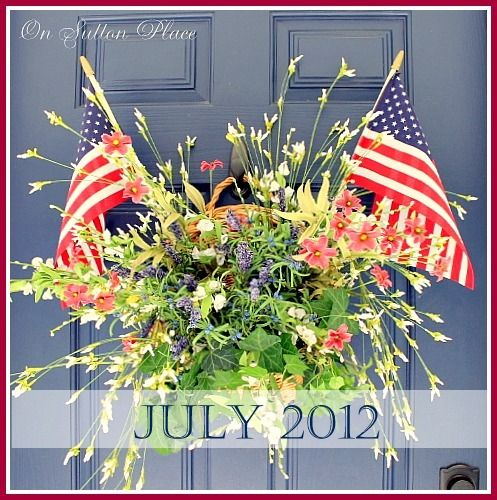 A beautiful patriotic door decoration!