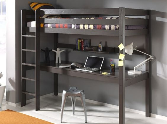 lit mezzanine bureau chambre ado pinterest lieux bureaux et mezzanine. Black Bedroom Furniture Sets. Home Design Ideas