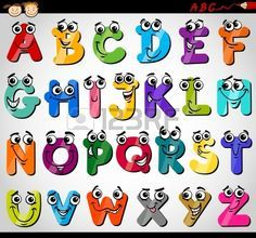 Dibujos Abecedario Animado Imagui Lettering Alphabet Alphabet For Kids Cartoon Illustration
