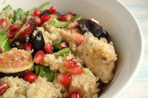 QUINOA CON HIGOS SECOS. Desayuno delicioso y saludable, perfecto para todos.