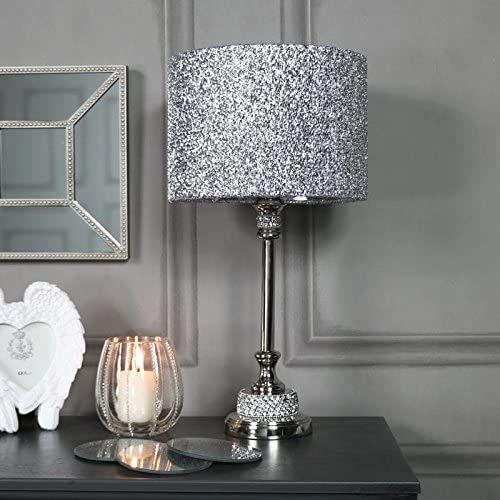 Silver Nickel Table Lamp Lamp Nickel Silver Table Silver Living Room Decor Silver Living Room Silver Bedroom Decor