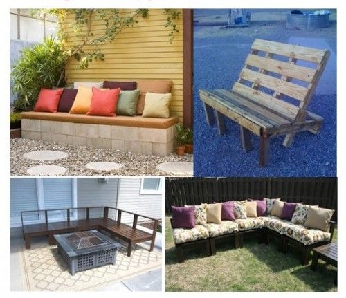 Cinder Block Furniture Backyard :   pallet furniture, cinder block benches, and DIY outdoor furniture