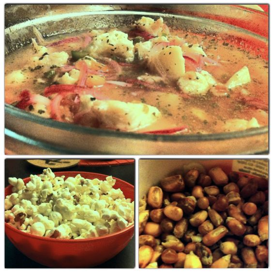Ceviche ecuador and popcorn on pinterest for Fish for ceviche