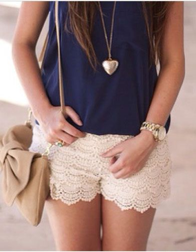 been debating some lace shorts for a summery outfit...i like these because they don't look like lingerie!