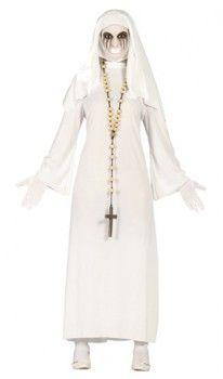 Disfraz de Monja Fantasma Blanca mujer:
