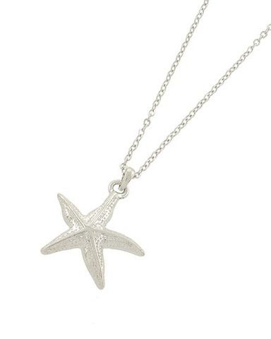Star of the Sea Necklace Silver Starfish - Sassy Shortcake Boutique