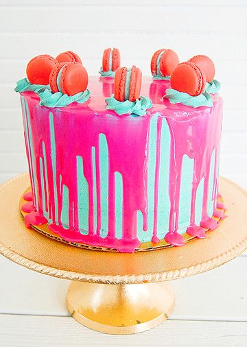Confetti Cake Pink Drip Cake / Wandering Whisk Bakeshop