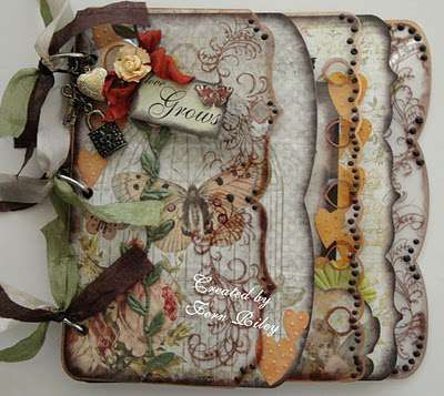 Mini Album incorporating some of the Butterfly Garden Collection creations (Pink Paislee/Gypsy Chick) by D Fern.