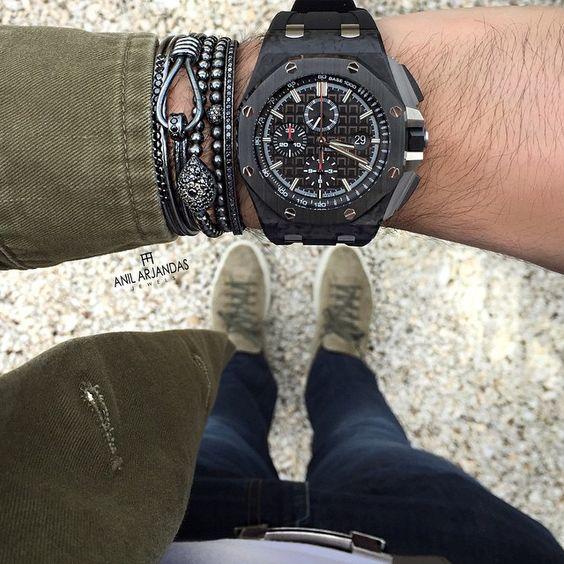 Khaki And Black kind of day. Enjoy your Sunday!!!