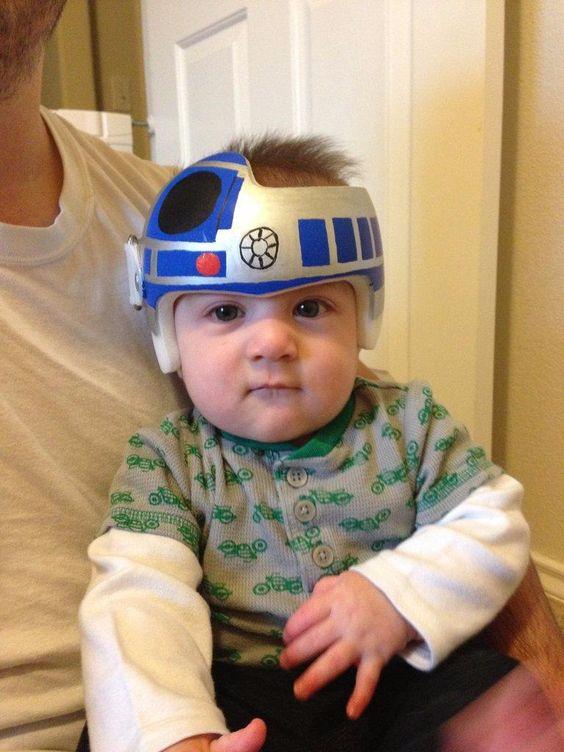 Baby helmet flat head