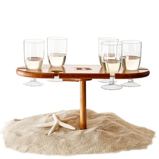 perfect beach drink table