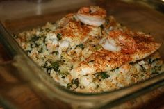 Notes From A New England Nana: Baked Tilapia with Shrimp Stuffing