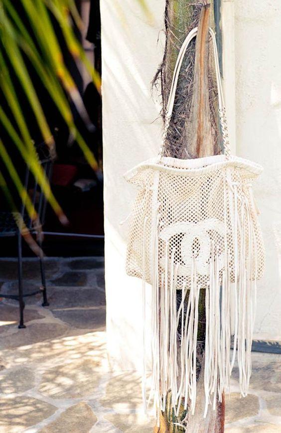 Fringe Chanel beach bag