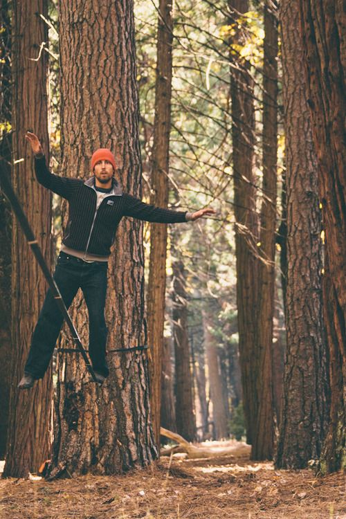 Yes to balancing. Sonnie Trotter in Yosemite #slackline #climbing #bouldering