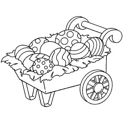 Stamper Anonymous Inky Antics Mounted Rubber Stamp 3X2.5-Easter Egg Cart $7.91