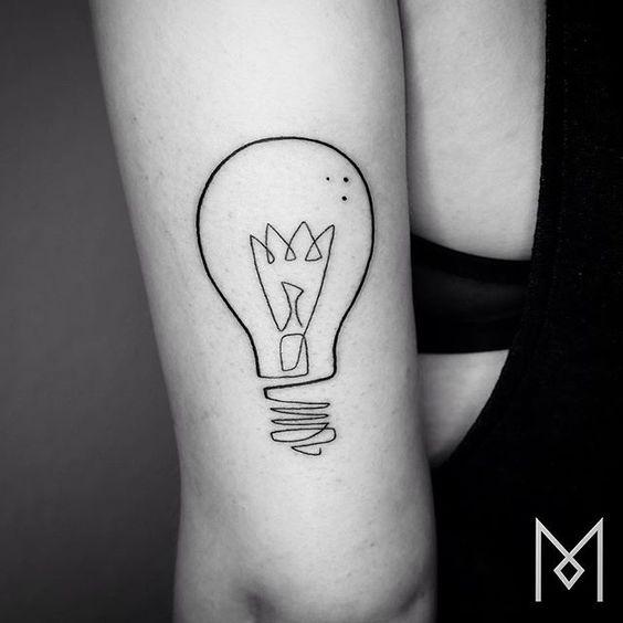 #lightbulb #moganji #singleline