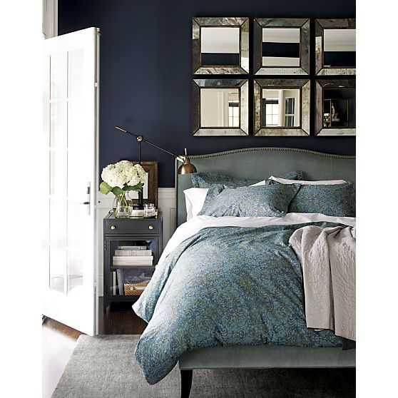 Colette Queen Bed Bed Linens Crate And Barrel And Crates