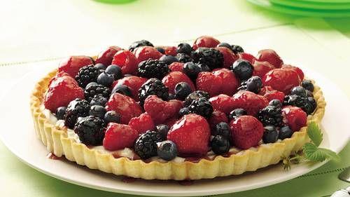 Cream Cheese Jewel Tart Recipe Tart Recipes Fruit Pizza Sugar Cookie Recipe Fruit Recipes