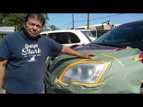 Como Pulir Los Focos De Un Carro Youtube Asadores De Concreto Pintura De Coches Pintura De Autos