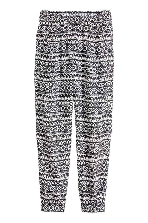 Patterned trousers | H&M