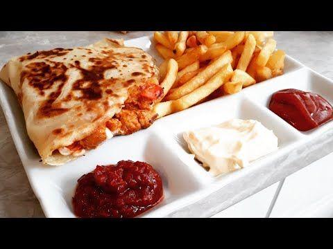طاكوس بكريب الدجاج ومع طريقة سر نجاح العحينة السحرية تقديم نادية الفاسية Youtube Breakfast Food Toast