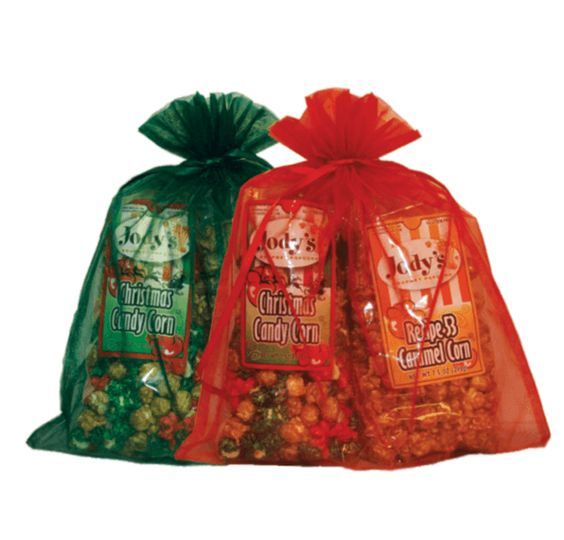 Green Organza Gift Bag | One Bag with 2 Flavors