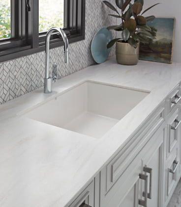 Marmo Bianco 1885 In 2020 Countertop Design Quartz Kitchen Countertops Kitchen Countertops Laminate