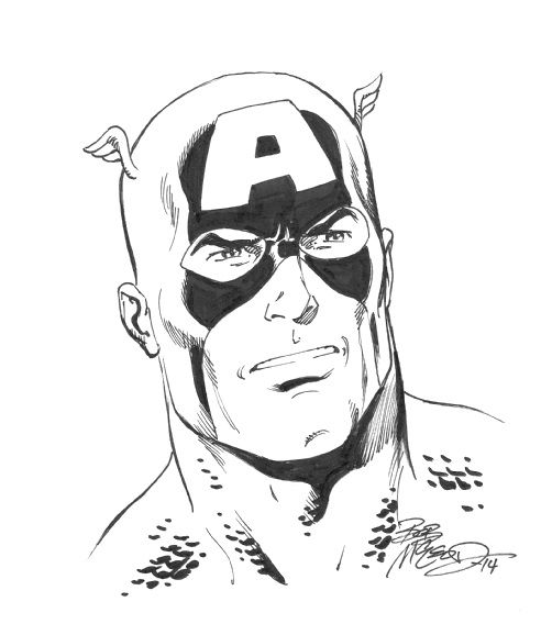 Captain America by Bob McLeod