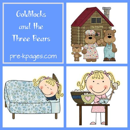 Goldilocks and the Three Bears Preschool Printables