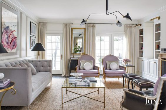 A Traditional, Parisian-Inspired Chicago Home with Soft Pops of Color: