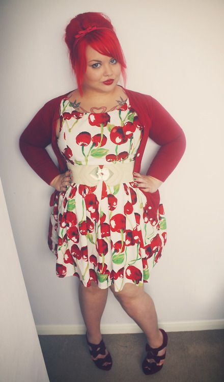 misshayleybee:    Dress- Newlook (ebay)Cardigan- Mr Shoes- http://www.mr-shoes.co.uk I'm your ch ch ch ch ch cherry bomb ♫
