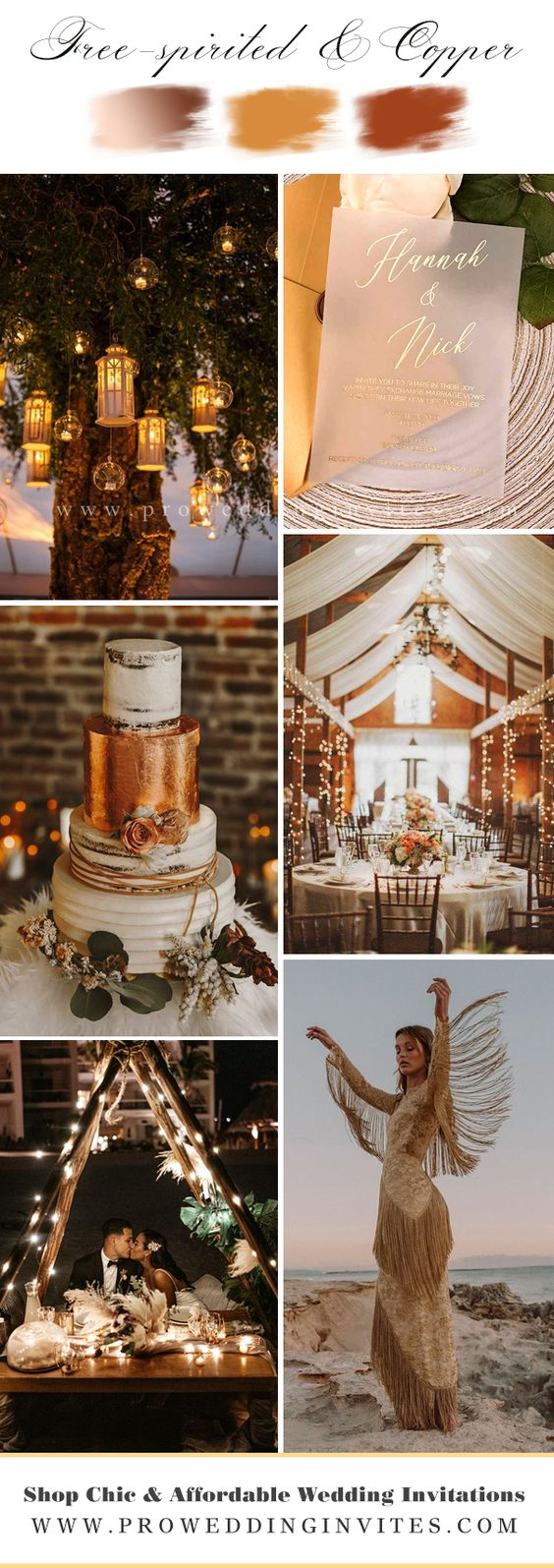 The stylistics of the boho wedding is easy to create and it is so beautiful. We have collected the best vellum wedding invitations for your bohemian theme wedding.
