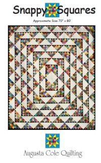 """Too many little squares?  Looks can be deceiving.  Use your scraps and strip piecing to create this snappy quilt. This quilt uses squares and triangles to make this scrappy delight.  Set the blocks on point and you have a great quilt that was """"sew"""" easy to make."""