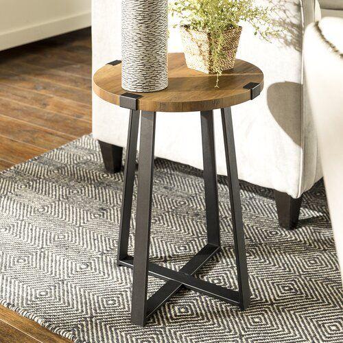 Beistelltisch Bowen Williston Forge Farbe Eiche Rustikal Esstisch Holz Eiche Rustikal Tisch