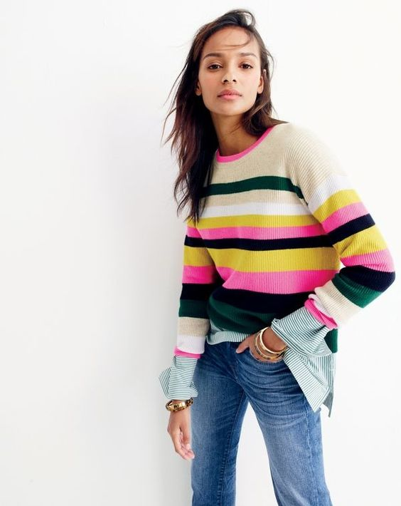 Classic with a twist: the pop stripe. J.Crew women's new, bold take on the classic that's not for wallflowers. Try it on an A-line skirt or a cashmere sweater.