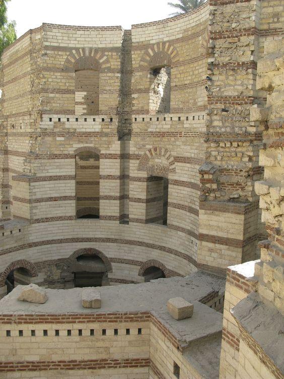 https://flic.kr/p/7HFB7V | 20100220 02 Roman Tower in Coptic Cairo | Coptic Cairo