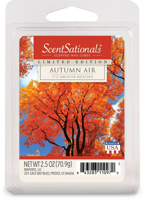 2 SCENTSATIONALS Scented Wax Cubes Aromatherapy NUTMEG /& CINNAMON