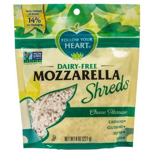 Follow Your Heart Mozzarella Shreds Dairy Free Dairy Free Cheese Alternatives Non Dairy Cheese