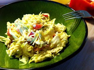 Gotta love creamy cabbage slaws that are healthy! Try this Yummy Creamy Cabbage Slaw and you won't regret it. :P