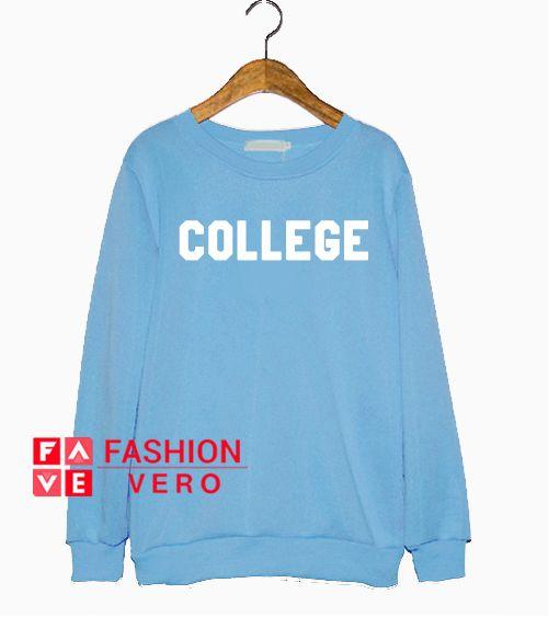 College Baby Blue Sweatshirt