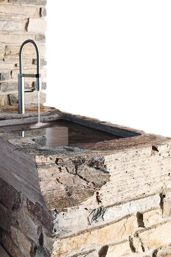 Waschbecken Gneis
