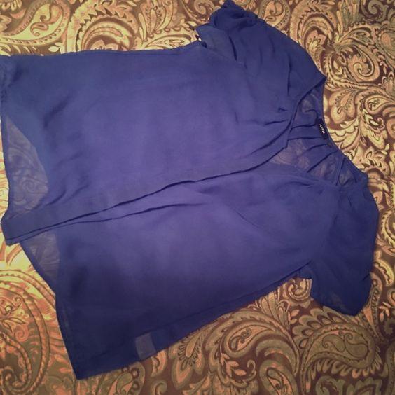 Shear royal blue blouse Shear Royal blue apt 9 blouse great condition worn very few times. Apt. 9 Tops Blouses