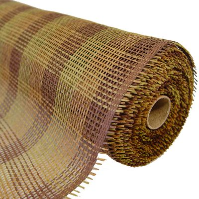 """Paper Mesh Check Color: Natural, Moss, Chocolate Size: 21"""" in width; 10 yards length Material: Paper"""