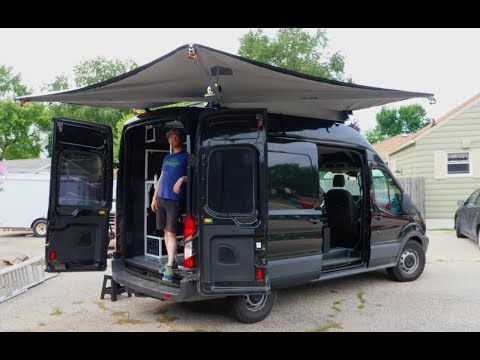 Alu Cab Shadow Awning On A Ford Transit Video Van Vlog 11 Youtube In 2020 Ford Transit Cab Roof Rack