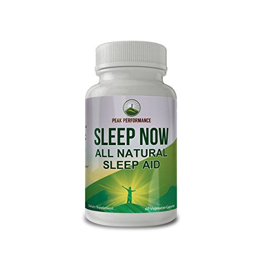 Sleep Now All Natural Non Habit Forming Sleep Aid Supplement By Peak Performance For Calm Sleep Wake Up Re Valerian Root Habit Forming All Natural Sleep Aid