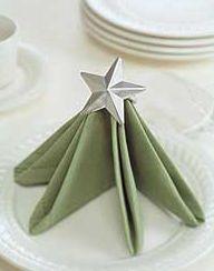 紙ナプキンの折り方画像